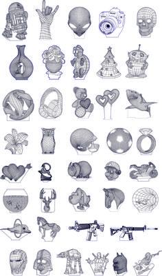 3D illusion premium vector drawings pack 1 Laser Cut Lamps, 3d Optical Illusions, Laser Cutter Projects, Led Light Design, 3d Cnc, Truck Art, 3d Laser, Illusion Art, Hand Engraving