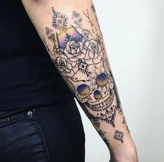 Mexican skull tattoo by SusBoom