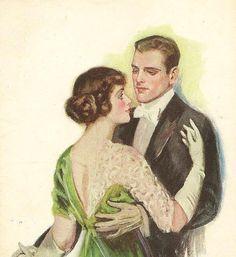 F Earl Christy Vintage Postcard The Love Waltz by TheOldBarnDoor