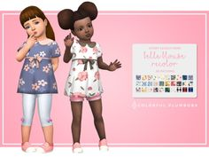 The Sims 4 Belle blouse recolor by colorfulplumbobs