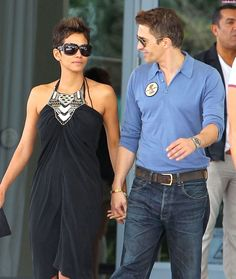 Halle Berry & Olivier Martinez in each other's amorous company, post-lunch in Miami