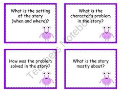 First Grade CCSS Comprehension Questions from Klever Kiddos on TeachersNotebook.com (12 pages)
