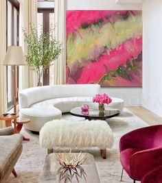 #50inch, #Pink and #Gold #Painting #Print, #PinkAbstract #Art, #HomeDecor, #PinkandGold #Green, #LargeArt, #AbstractPainting, #JuliaApostolova, 'PinkChampagne' by #JuliaApostolova on #Etsy #interior #homeinterior #design #interiordesign #interiordesigner #decoration #decor #etsyshop #etsyart #etsygifts #artist