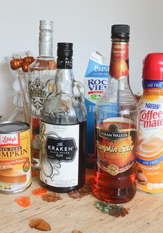 Ingredients for The Best Pumpkin Pie Martini Ever! @LoveHappyHour