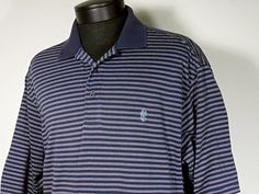 Brooks Brothers Golf Polo Shirt Size Large Blue White Stripes 100% Pima Cotton #BrooksBrothers #PoloRugby