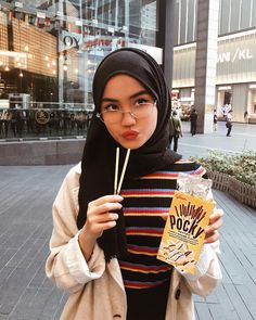 Spotted wearing the ' High neck ribbed t-shirt ' ( IDR kpop hijab - Hijab Hijab Casual, Modest Fashion Hijab, Ootd Hijab, Hijab Chic, Girl Hijab, Muslim Fashion, Hijab Mode Inspiration, Hijab Stile, Hijab Style Tutorial