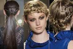 Take note from the fall 2013 runways and add some braids to your hair for that added punch of rocker-glam!