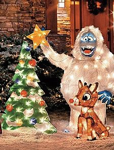 From the cartoon video classic, Rudolph the Red-nosed Reindeer -- get your own yard decoration or make your own.