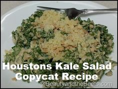 A truly delicious salad at Houston's. Kale Salad with Peanut Dressing