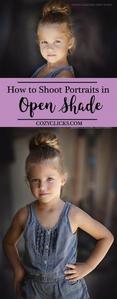 The easiest way to use open shade with a garage to take flattering portrait with…