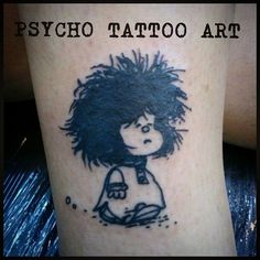 #tattoo #mafalda #comic #cartoon #inked #ink #quino #tatuaje #dibujito #tinta by psycho_tattoo_art