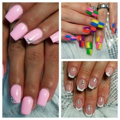 Crazy neon Nails, classic French or simple pink - all styles fit this summer!