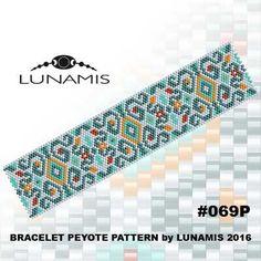 Peyote bracelet pattern, peyote pattern, stitch pattern, pdf file, pdf pattern, #069P by LunamisBeadsPatterns on Etsy