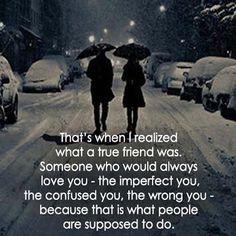 What a true friend was