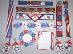 Lot of 19 4th of July Pre Made Scrapbook Embellishments Creative Memories | eBay