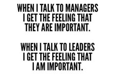 Real leaders...