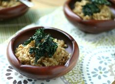 Farro   Caramelized Onions with Crispy Kale via @EverydayMaven