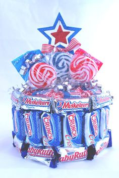 Candy Cake - Patriotic. $25.00, via Etsy.