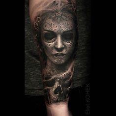 #catrina #skull #realistic #tattoo @silverbackink @killerinktattoo #hustlebutterdeluxe
