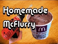 Make your own McDonalds McFlurry at home!