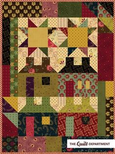 Kim Diehl fat quarter scrap bundle plus the Home Again patchwork quilt pattern from the Simple Whatnots Club Collection 3.