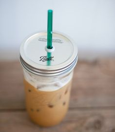 Mason jars + iced coffee = our idea of a perfect morning. Plus, this one fits into cup holders for extra-easy travel. ($14.50, themason barcompany.etsy.com)   - CountryLiving.com