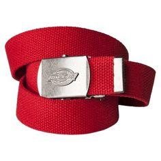 Dickies® Men's Military Fabric Belt - Red