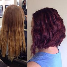 Major transformation for Erin Henderson today! From subtle balayage blonde to burgundy bombshell lob! #btcpics #btconeshot_transformation #btconeshot_color16 #btconeshot_transformations16 #blonde #balayage #burgundy #burgundyhair #hairtransformation #lob #longbob #cincinnati #cincinnatihair #redhair #redhairdontcare #shorthair #shorthairdontcare #darrenandcosalon #melaniescheelhair #olaplex #wella #filler #hair #haircolor #haircut #hairstylist #kevinmurphy #hairdressermagic #cosmoprof