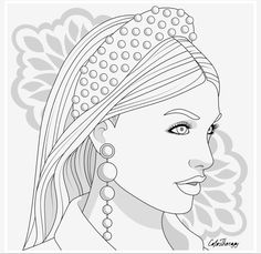 People Coloring Pages, Coloring Book Pages, Bff Drawings, Printable Coloring Sheets, Colorful Pictures, Colorful Fashion, Art Sketches, Watercolor Art, Outline
