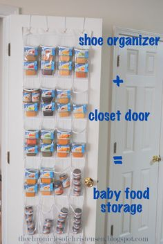 how to organize and store baby food