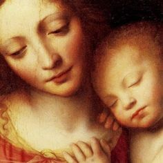 The Christ Child Asleep, Bernardino Luini (Italian High Renaissance Painter, c Madonna and Child. Blessed Mother Mary, Blessed Virgin Mary, Religious Icons, Religious Art, Queen Of Heaven, Mama Mary, Mary And Jesus, Sacred Feminine, Holy Mary