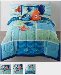 Disney® Finding Dory Reversible Comforter + BONUS Sham & Accessories… Kids Bedding sets