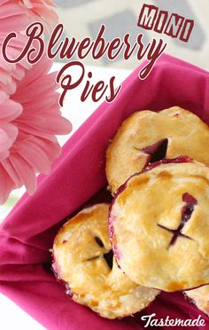 Possibly the cutest pies you'll ever make. Blueberry pies that are the size of a muffin! Perfect for packing in your lunch and enjoying on the go!