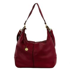 Leather bag available in taupe, bordeaux and black.