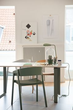 Muuto in Copenhagen by decor8, via Flickr. What an interesting shade of green!