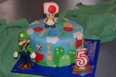 Another Mario Bros cake by bumblebee on Cake Central