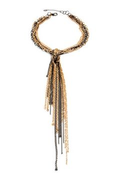 Azcapot Necklace by Top Trend: Black & Gold Jewelry on @HauteLook