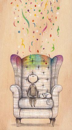 Leer, imaginar: qué placer (ilustración de Laura Wood)