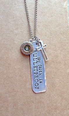 'My Faith is Bulletproof' Necklace More