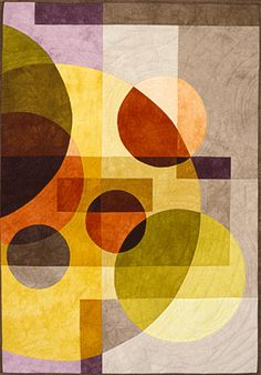 """image of quilt titled """"Oil on Water"""" by Cory Volkert © 2006. observation and imagination."""
