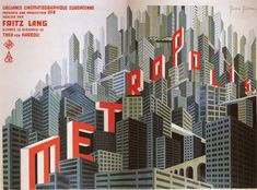 """art-decodence: """"Gorgeous movie posters from Fritz Lang's art deco masterpiece, Metropolis, """" Metropolis Poster, Metropolis Fritz Lang, Metropolis 1927, Posters Uk, Vintage Posters, Movie Posters, Fantasy Words, Sci Fi Fantasy, Alfred Hitchcock"""
