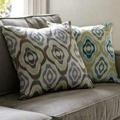 brown geo print pillow