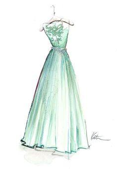 abiye elbise çizimleri