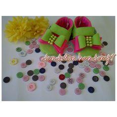 Diy felt craft.... baby shoes