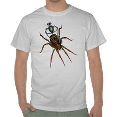 Spider Rider Tshirt. Artwork by 'Trick. Part of the bugs n bots series.  TricksPlace.com www.zazzle.com/tricksplace* #spider