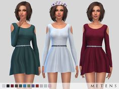 The Sims Resource: Wisteria Dress by Metens • Sims 4 Downloads
