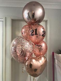 1 x Rose Gold Orbz 1 x Rose Gold Heart 1 x Rose Gold Confetti Balloon 5 x Rose Gold Happy Birthday Large Number Balloons, 16 Balloons, Bubble Balloons, Gold Confetti Balloons, 50th Birthday Balloons, 21st Birthday, Balloon Delivery, Balloon Gift, Rose Gold