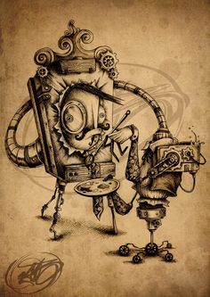 Это работы талантливого художника, известного Paride Bertolin. Художник специализируется на дизайне персонажей. http://tanjand.livejournal.com/1503838.html