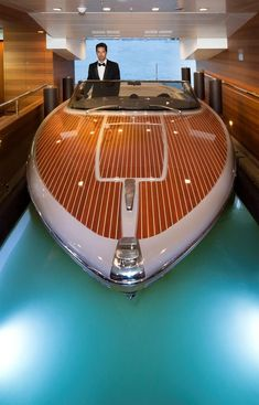 Boat - The Most Spectacular Yacht in the World with Indoor Pool, Aquarium and World's First Floating Garage Yachting Club, Private Yacht, Wood Boats, Yacht Design, 360 Design, Design Hotel, Yacht Boat, Speed Boats, Water Crafts