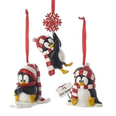 Bundle Pack of Kurt Adler Resin Penguin Ornaments 3 Assorted Grinch Stole Christmas, Christmas Tree Toppers, Christmas Fun, Celebrating Christmas, Christmas Central, Santa Decorations, Outdoor Christmas Decorations, Personalized Christmas Ornaments, Holiday Ornaments